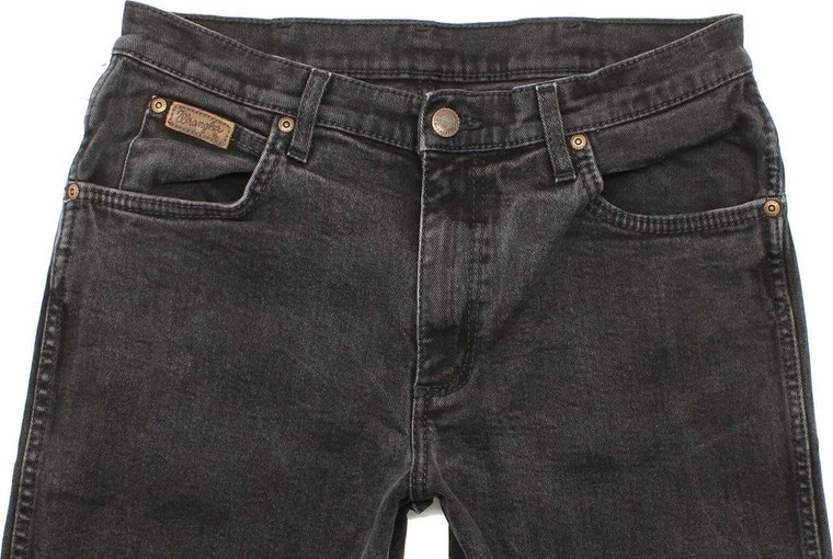 Wrangler Texas Mens Charcoal Straight Stretch Jeans W23 L30 image 1