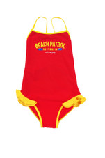Girls Beach Patrol One-Piece Swimsuit