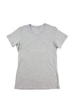 Womens Embroidery Tee (Grey Marle)