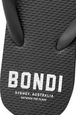 Womens Bondi Thongs (Charcoal)