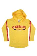 Kids Beach Patrol Lightweight Hoodie (Yellow)