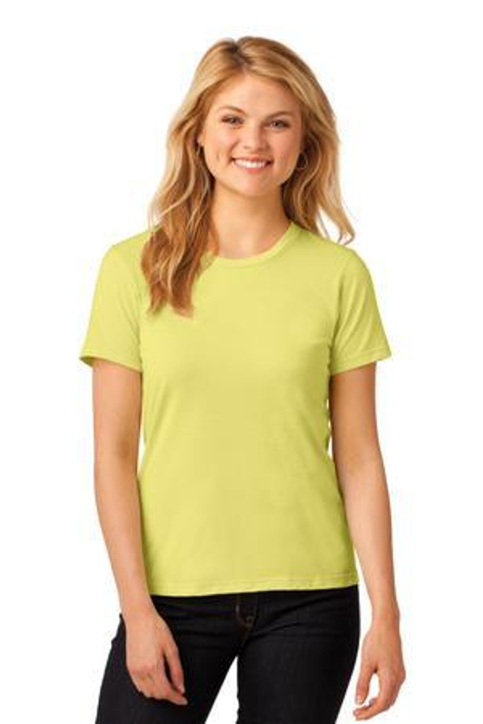 Ladies 100% Combed Ring Spun Cotton T-Shirt