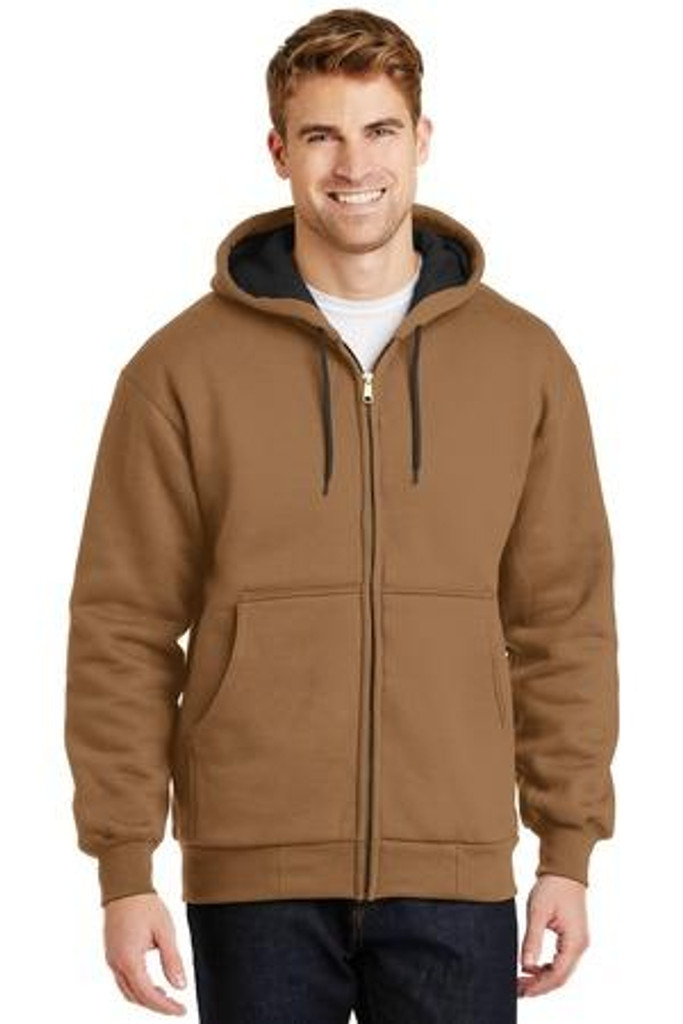 Heavyweight Full-Zip Hooded Sweatshirt with Thermal Lining