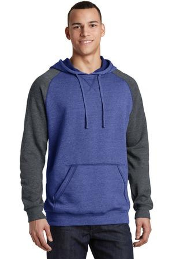 Young Mens Lightweight Fleece Raglan Hoodie