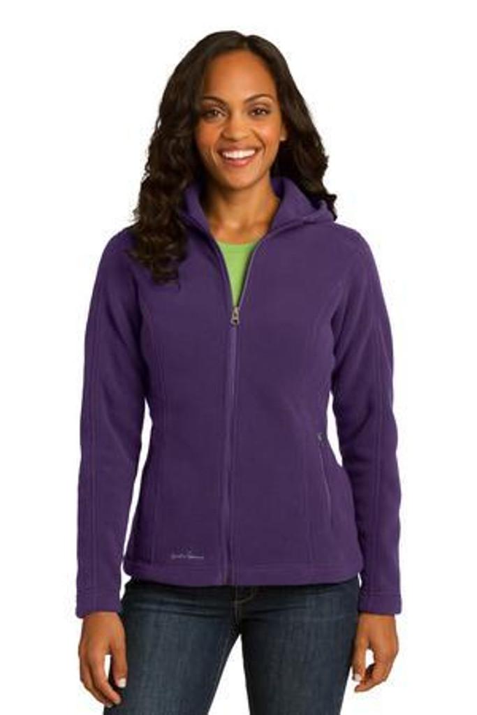 Ladies Hooded Full-Zip Fleece Jacket