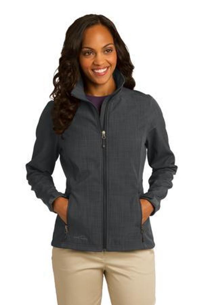 Ladies Shaded Crosshatch Soft Shell Jacket