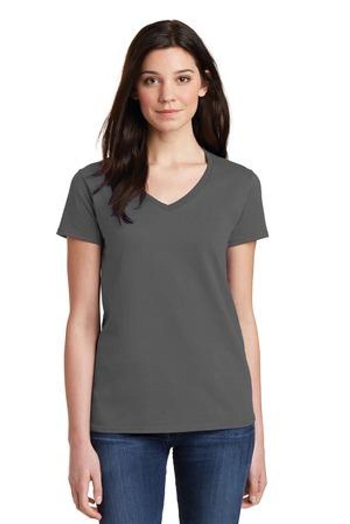 Ladies Heavy Cotton 100% Cotton V-Neck T-Shirt