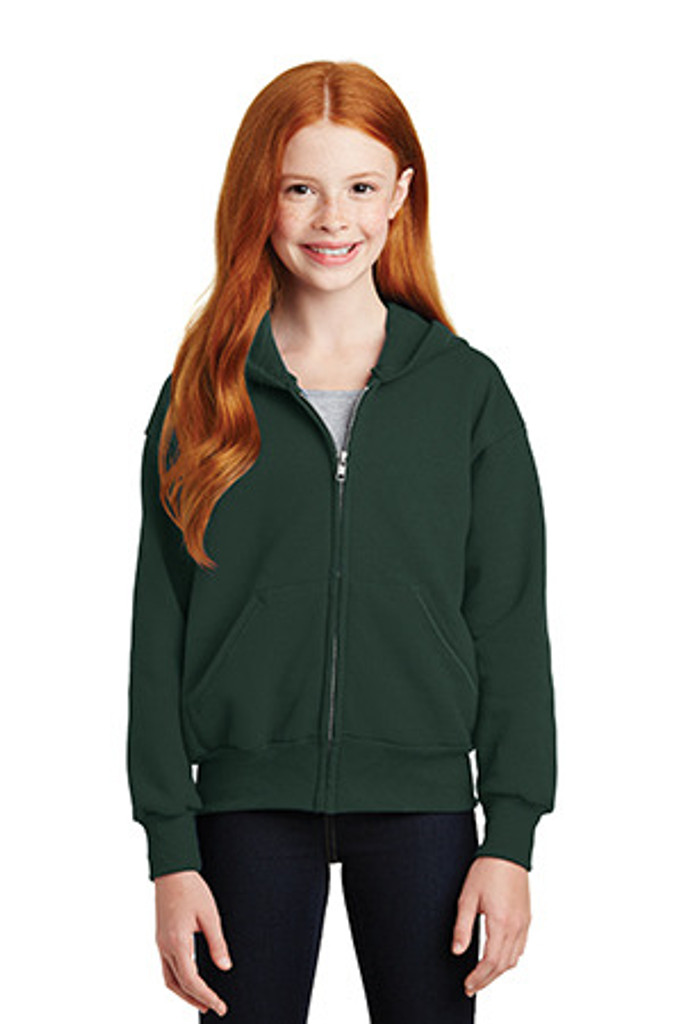 Youth EcoSmart Full-Zip Hooded Sweatshirt