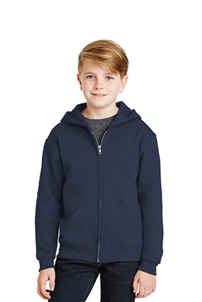 Youth NuBlend Full-Zip Hooded Sweatshirt