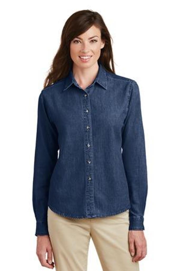 Ladies Long Sleeve Value Denim Shirt  LSP10