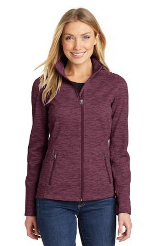 Ladies Digi Stripe Fleece Jacket