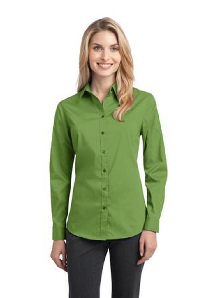 Ladies Stretch Poplin Shirt