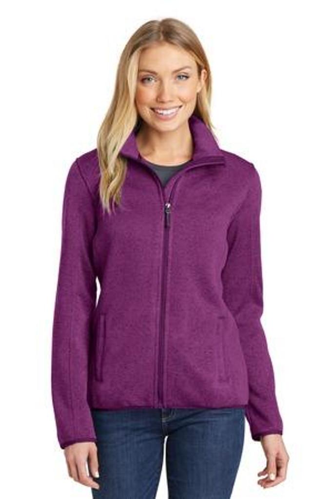 Ladies Sweater Fleece Jacket