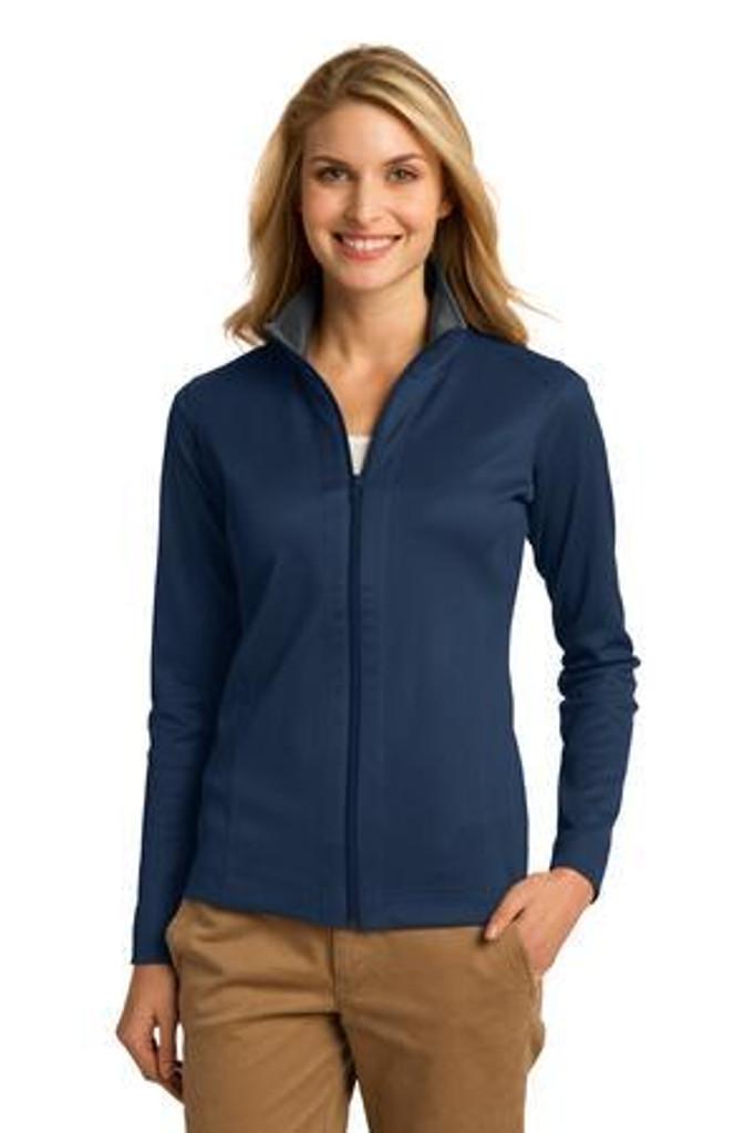 Ladies Vertical Texture Full-Zip Jacket