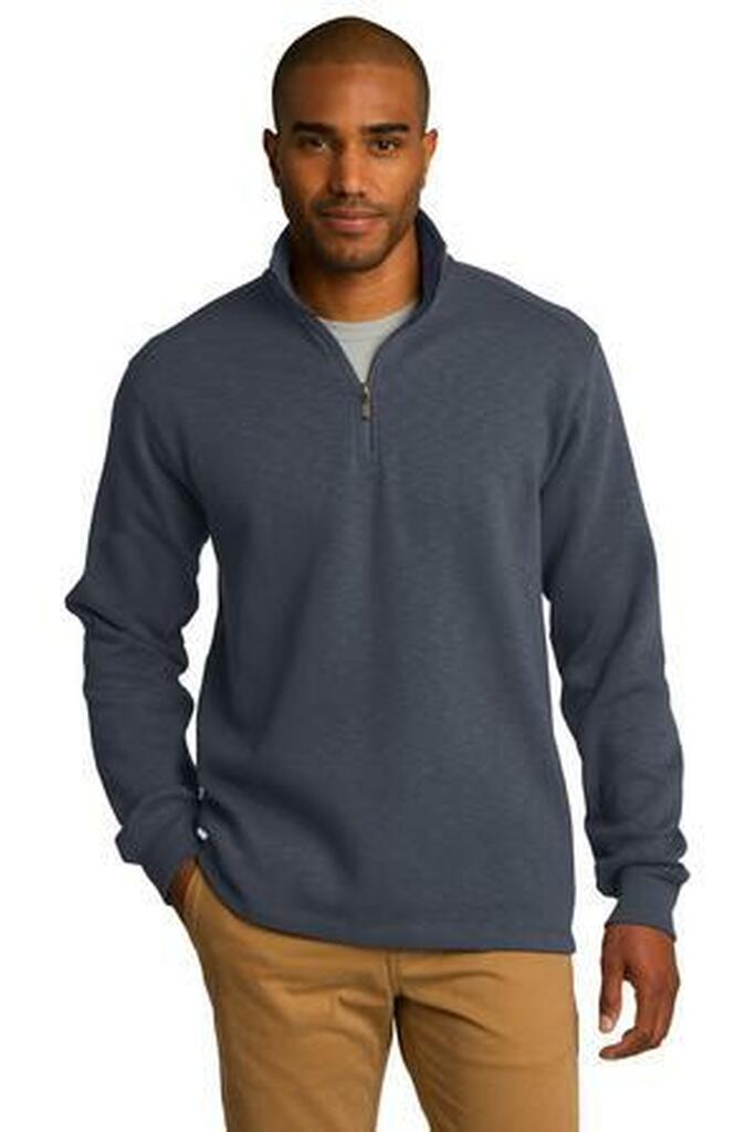 Slub Fleece 1/4-Zip Pullover
