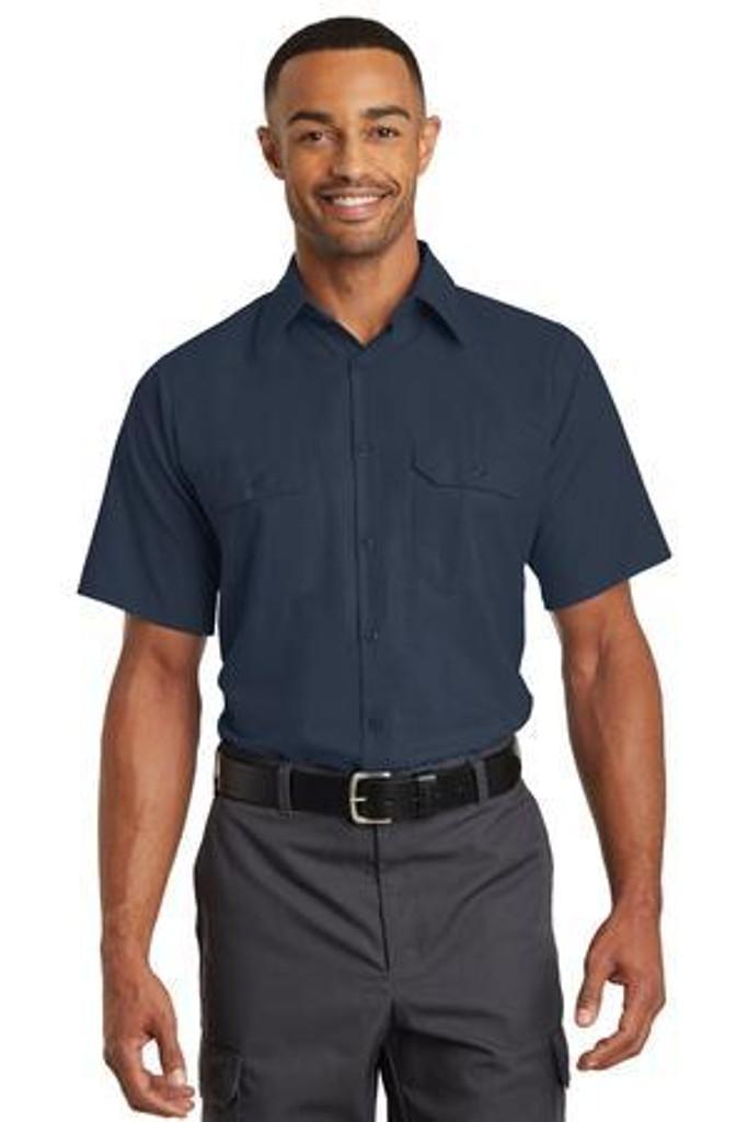 Short Sleeve Solid Ripstop Shirt