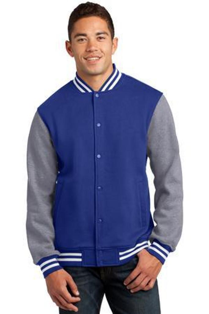 Fleece Letterman Jacket