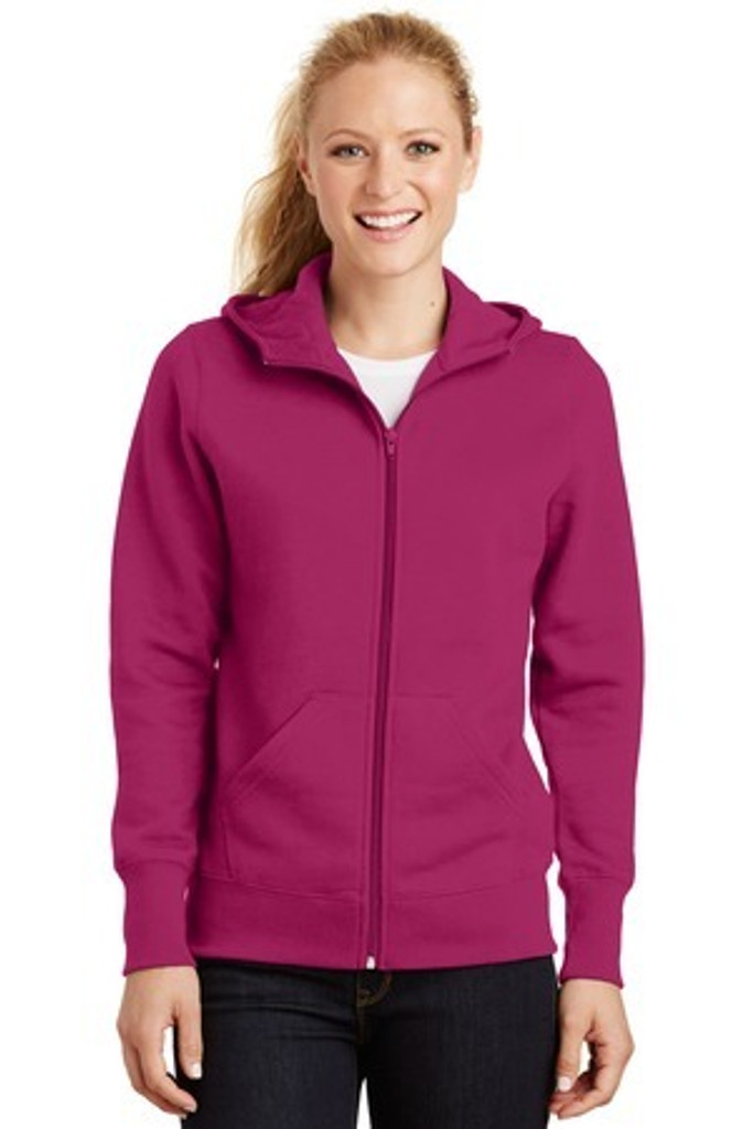 Ladies Full-Zip Hooded Fleece Jacket