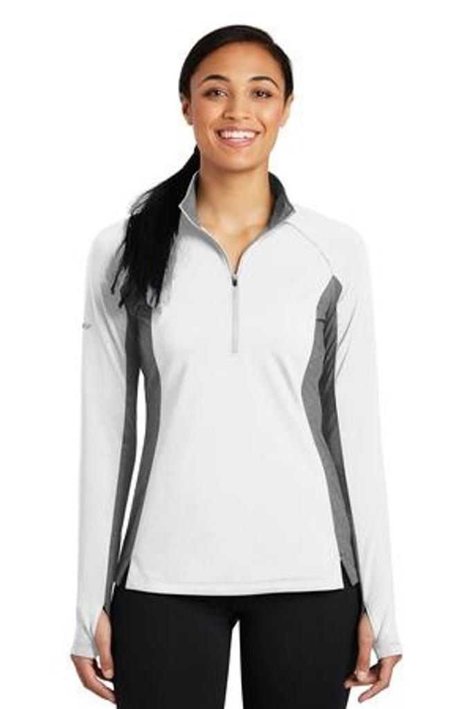 Ladies Sport-Wick Stretch Contrast 1/2-Zip Pullover