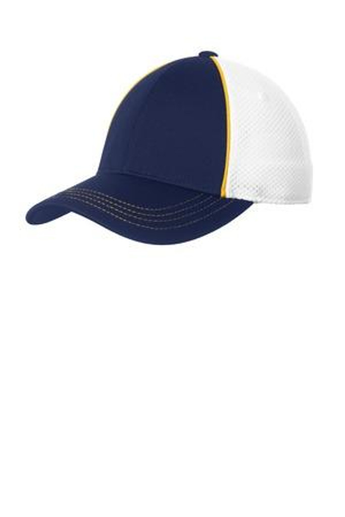Piped Mesh Back Cap