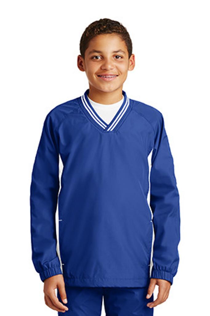 Youth Tipped V-Neck Raglan Wind Shirt