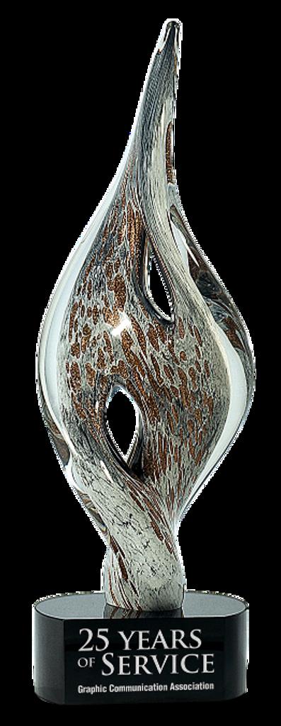 Twist Spire Art Glass