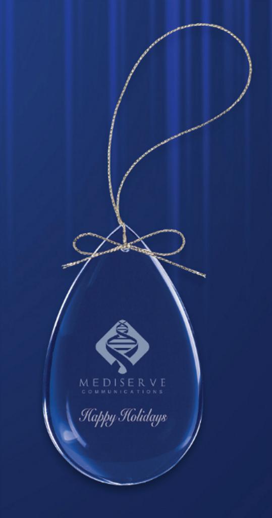 Crystal Teardrop Ornament