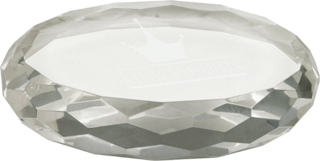 Premier Crystal Oval Paperweight