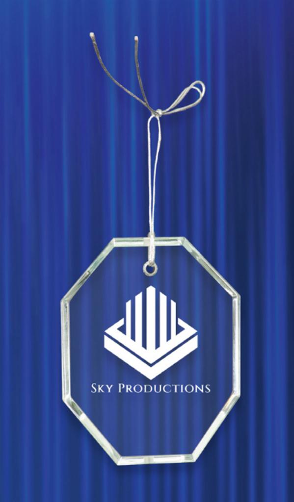 Crystal Octagon Ornament
