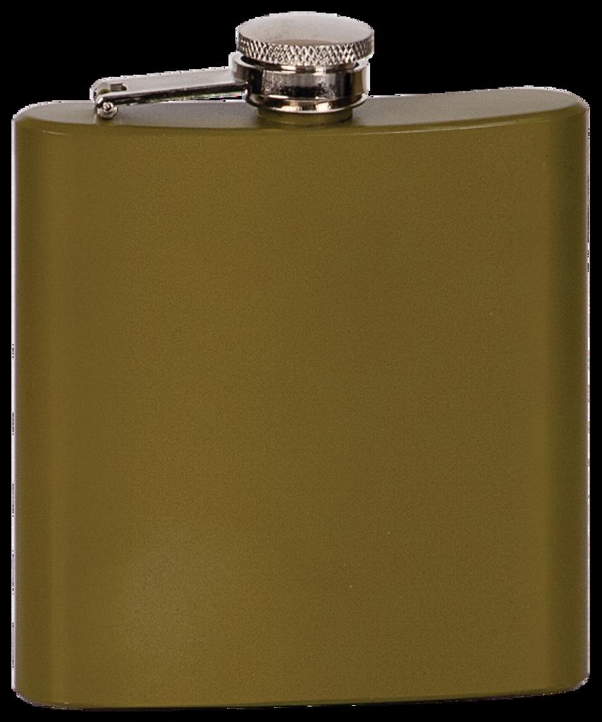 Matte Green Stainless Steel Flask