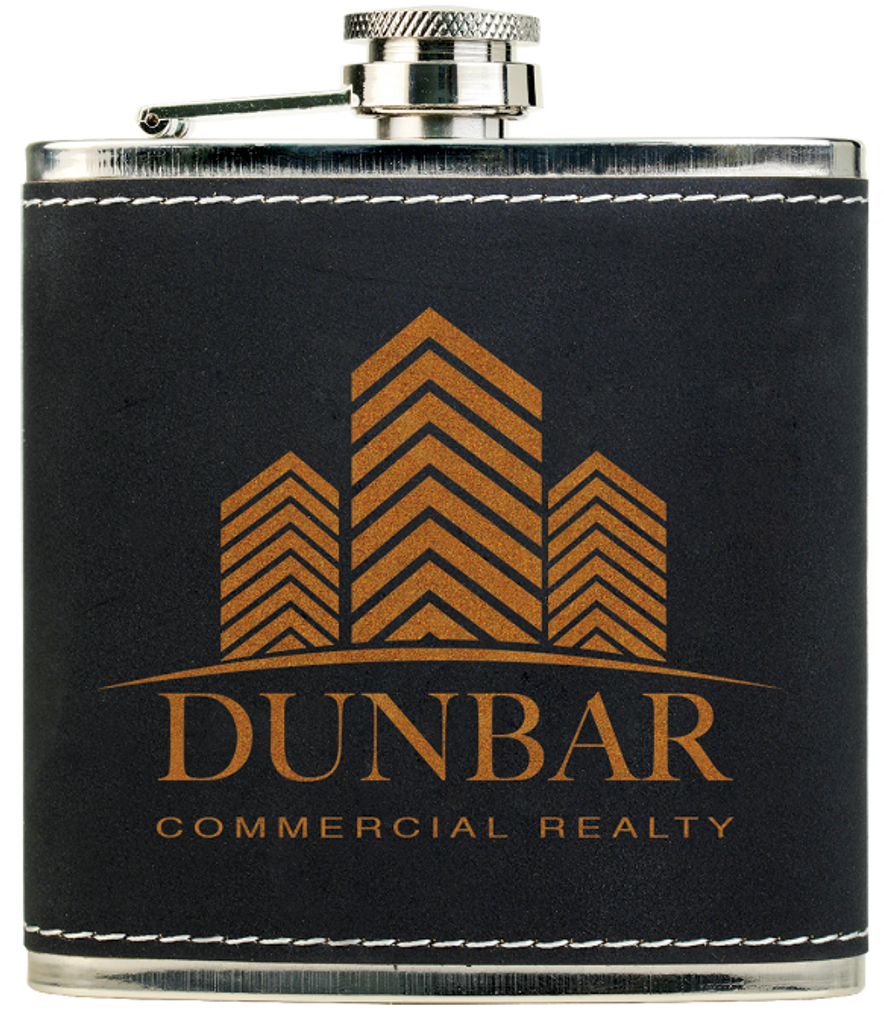 Light Black/Gold Textured Stainless Steel Flask