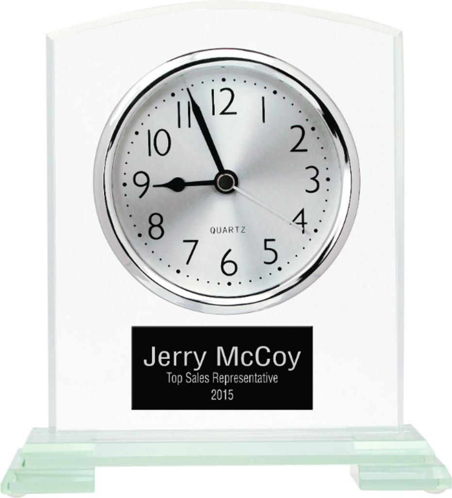 Square Glass Arch Clock