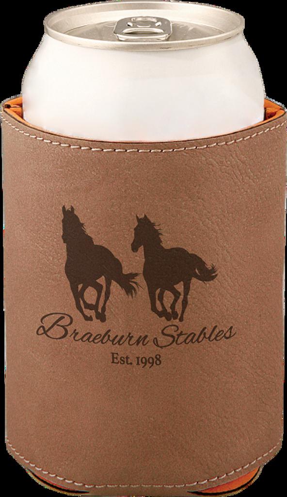 Dark Brown Leatherette Beverage Holder