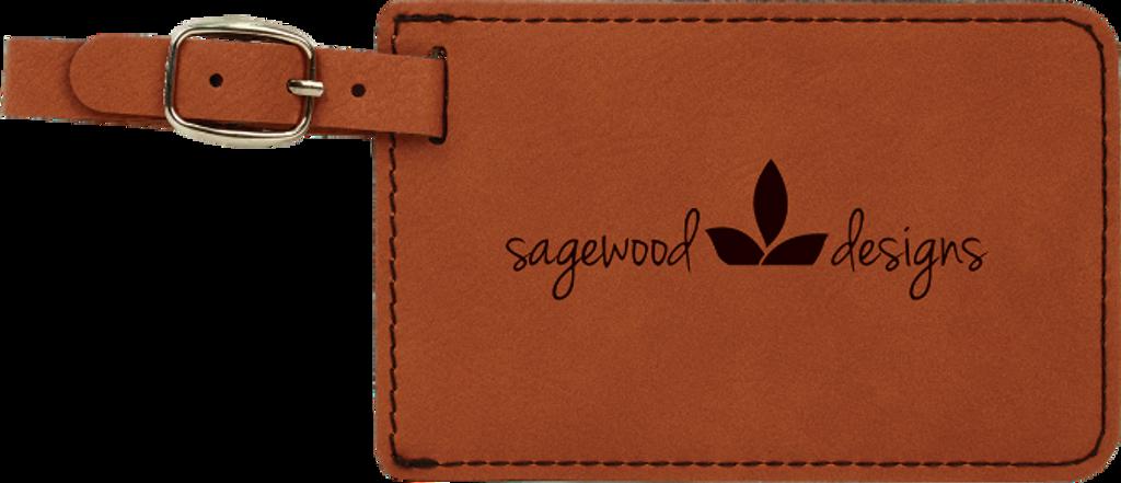 Rawhide Leatherette Luggage Tag