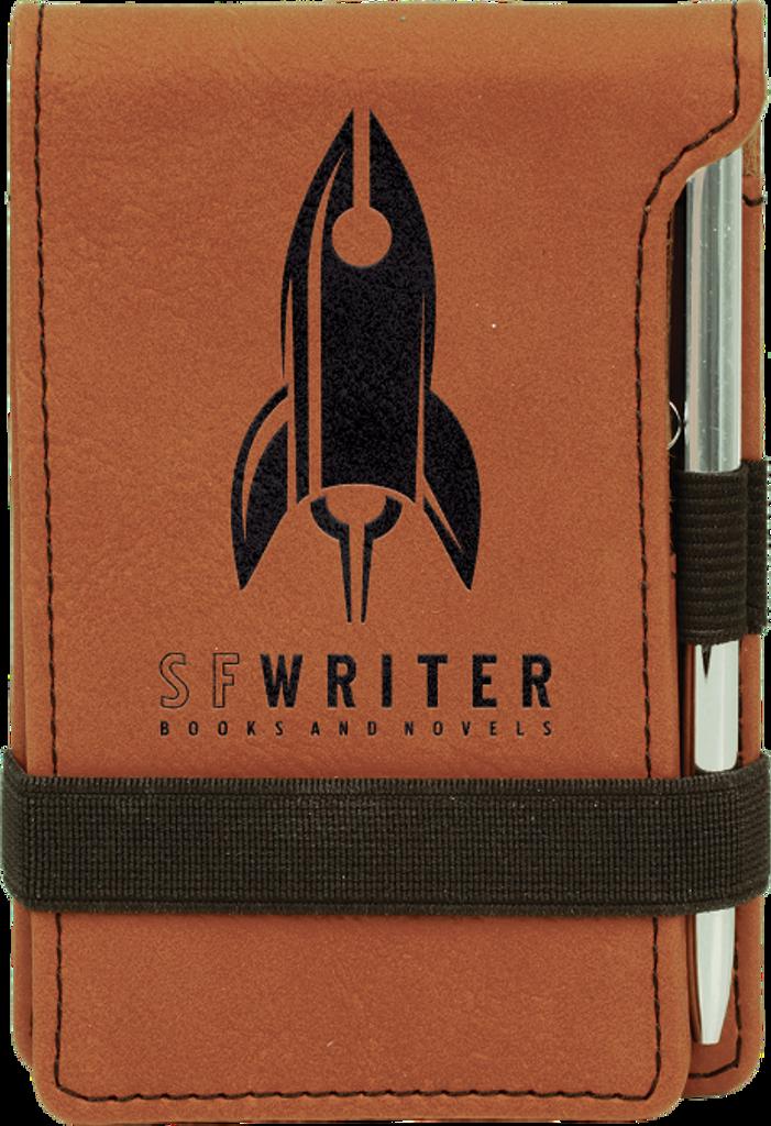 Rawhide Leatherette Mini Notepad & Pen