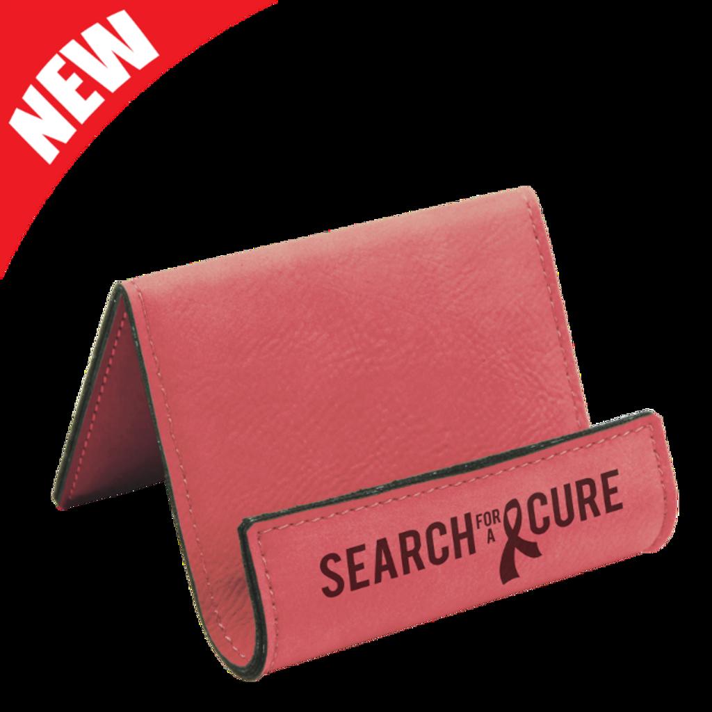Pink Leatherette Holder/Easel