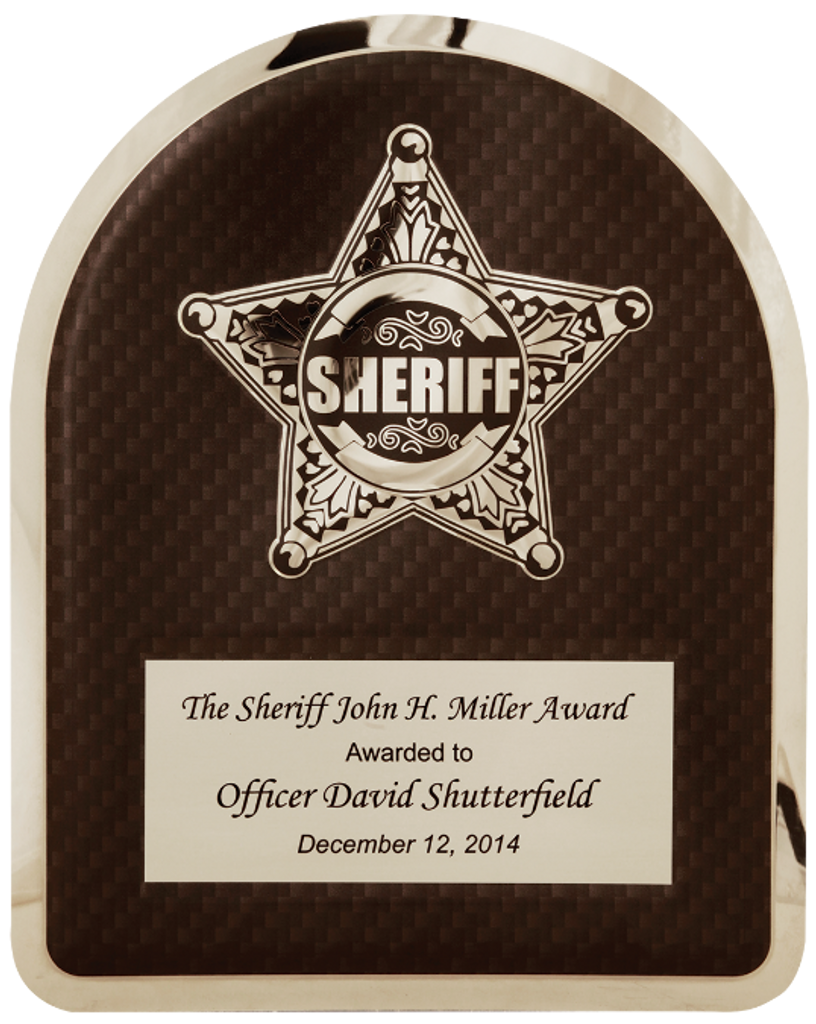 Sheriff HERO Plaque with Chrome Star
