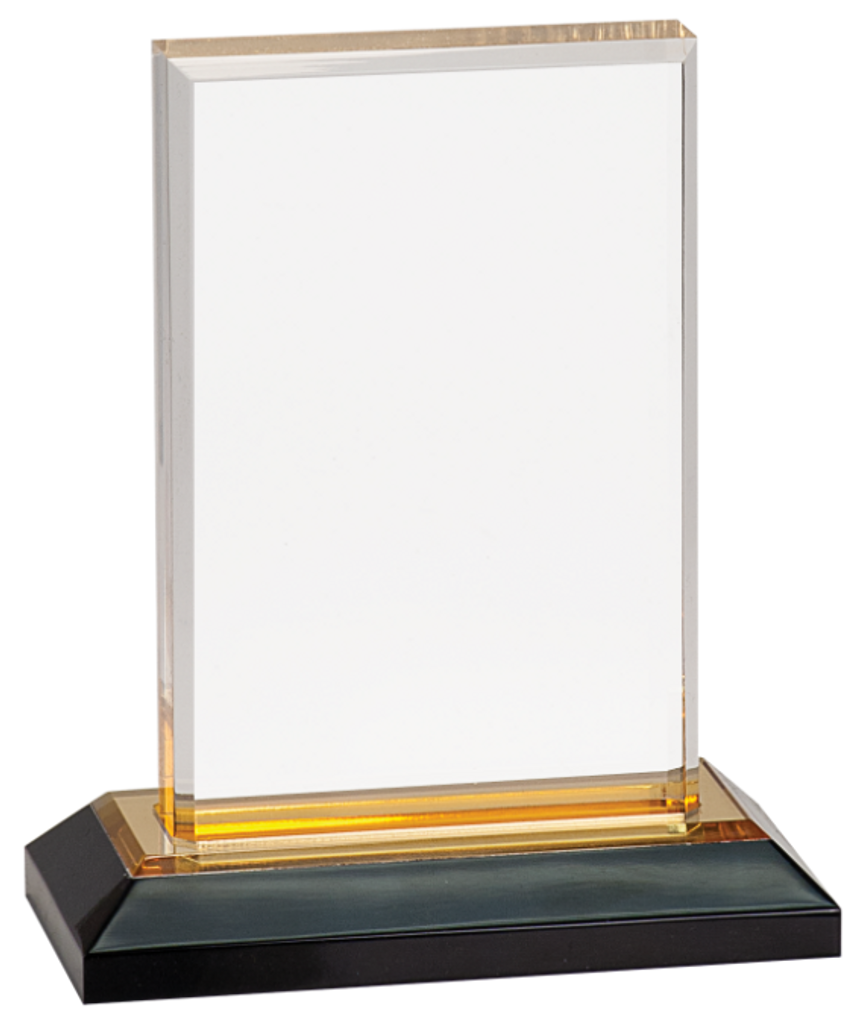 Gold Beveled Impress Acrylic with Base