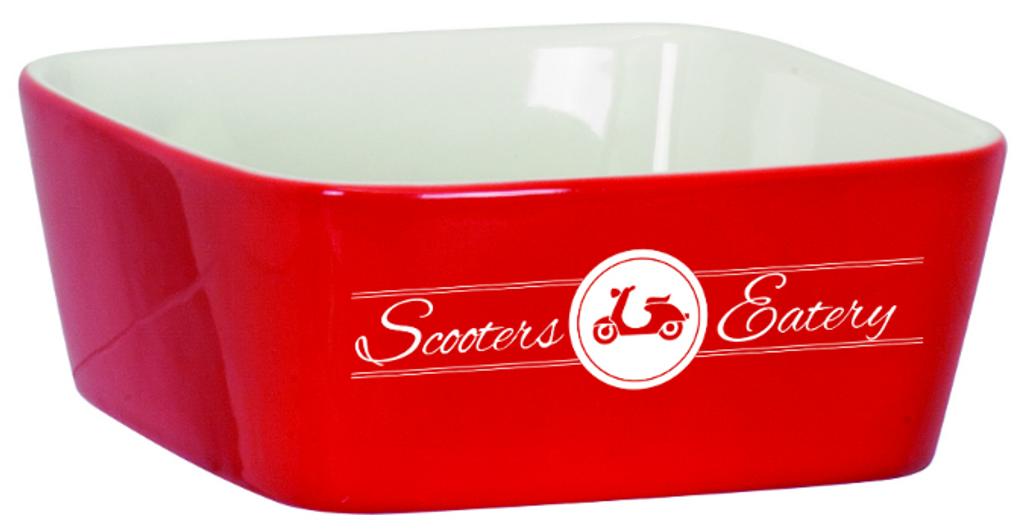 Large Red Ceramic Bowl