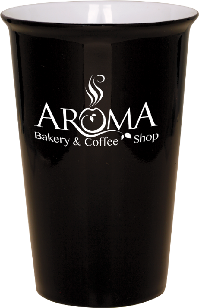 Black Ceramic Latte Mug