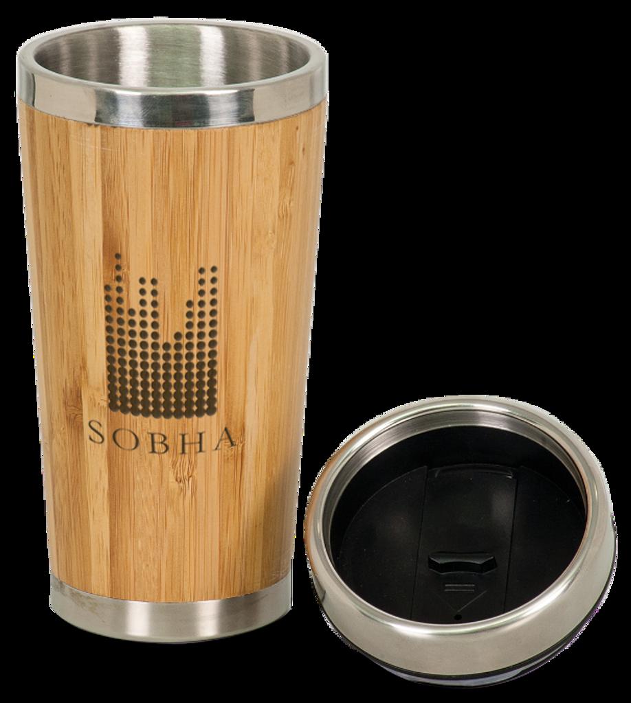 Genuine Bamboo & Stainless Steel Travel Mug