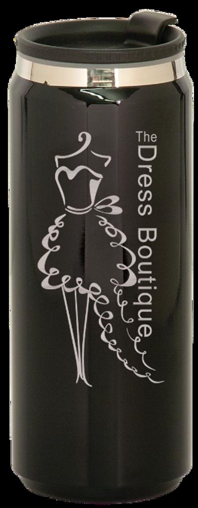 Gloss Black Stainless Steel King Can Travel Mug
