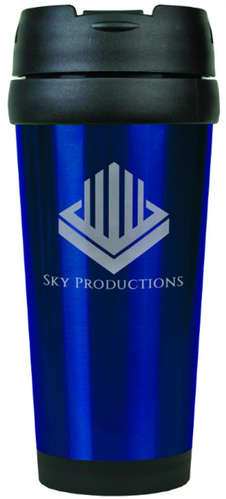 Gloss Blue Travel Mug Without Handle