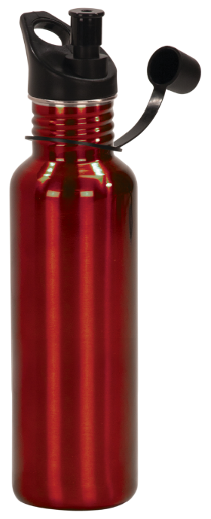 Gloss Red Stainless Steel Water Bottle