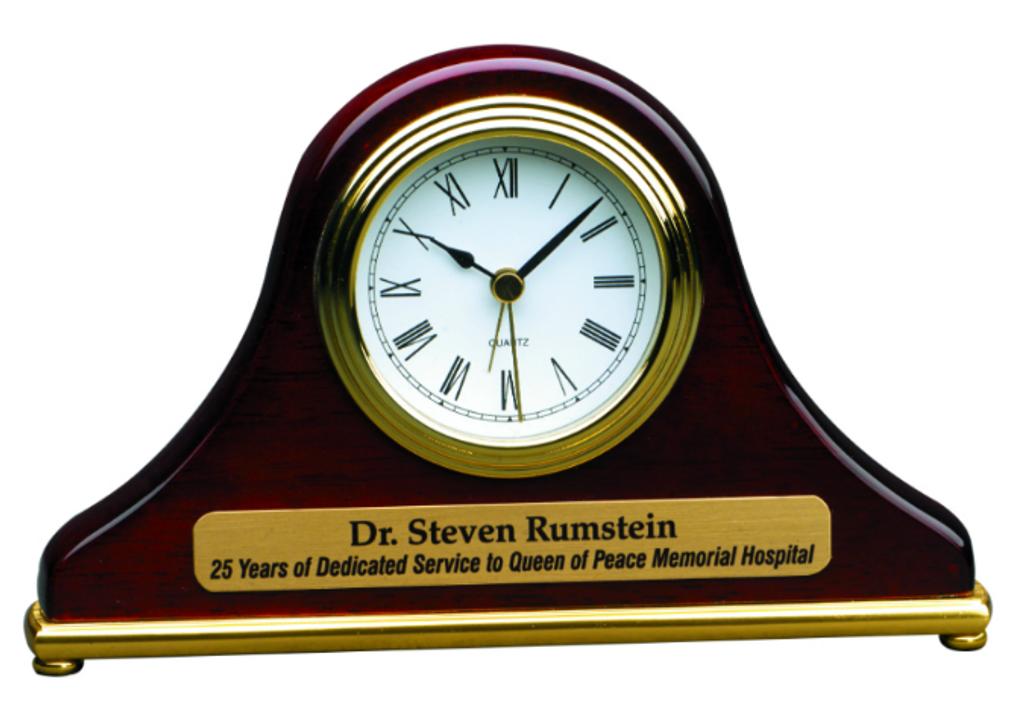 Rosewood Piano Finish Mantel Clock