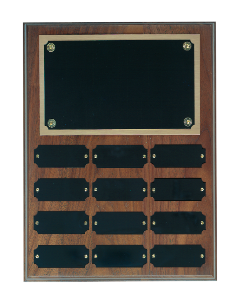 Genuine Walnut Step Edge Perpetual Plaque