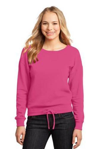Juniors Core Fleece Wide Neck Pullover