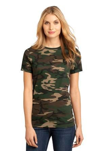 Ladies Perfect Weight Camo Crew Tee