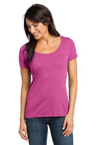Ladies Textured Scoop Tee