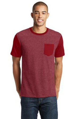 Young Mens Very Important Tee with Contrast Sleeves and Pocket